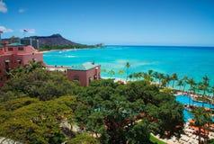 金刚石夏威夷顶头旅馆 库存图片