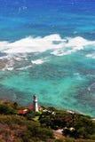 金刚石夏威夷顶头檀香山灯塔 免版税库存照片