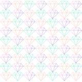 金刚石多角形线样式传染媒介 库存照片