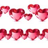 金刚石心脏样式 库存例证