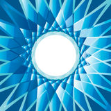 金刚石抽象背景蓝色圆的框架 免版税库存照片