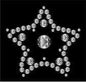 金刚石星形向量 免版税库存图片