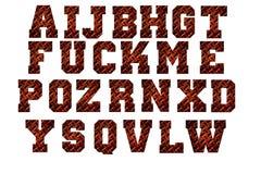 金刚石板材字母表从A到在白色backgroun隔绝的Z 免版税库存图片