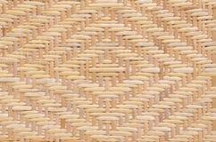金刚石样式被编织的藤条 免版税库存照片