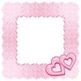 金刚石框架重点粉红色二 向量例证
