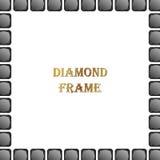 黑金刚石正方形框架 库存例证