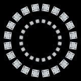 黑金刚石的一个圆样式在白色背景的 库存照片