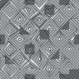 金刚石线黑色颜色无缝的样式 免版税库存照片