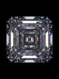 金刚石绿宝石正方形 免版税库存照片