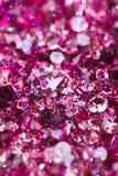 金刚石许多红宝石小的石头 免版税库存照片
