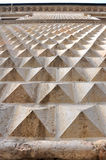 金刚石费拉拉意大利形状的墙壁 库存图片