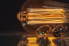 金刚石闪闪发光从灯的 图库摄影