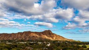 金刚石顶头火山口在Oahua,夏威夷 免版税图库摄影