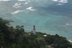 金刚石顶头灯塔,奥阿胡岛,夏威夷 库存图片