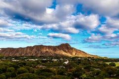 金刚石顶头状态纪念碑,奥阿胡岛,夏威夷 图库摄影