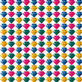 金刚石首饰宝石五颜六色的多角形商标 免版税库存照片