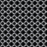 金刚石黑作用无缝的样式 免版税库存照片