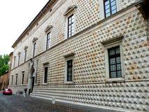 金刚石费拉拉意大利宫殿 免版税库存照片