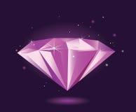 金刚石紫色向量 免版税图库摄影