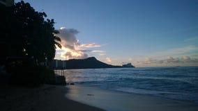 金刚石头,奥阿胡岛, HI 库存照片