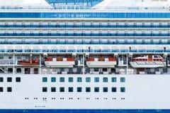 金刚石Luxury Cruise公主划线员 库存照片