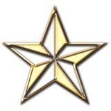 金发光的星形 库存例证