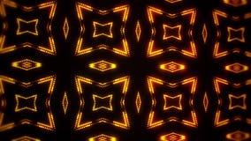 金发光的被带领的微粒万花筒VJ圈行动背景 向量例证