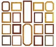 金和木头框架 免版税库存照片