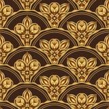 金和browne无缝的样式 皇族释放例证