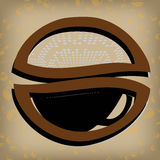 金咖啡标签 免版税库存照片