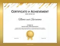 金在体育题材的证明模板有水印背景,文凭设计 库存例证