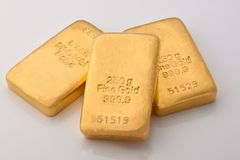 金块金子投资 图库摄影