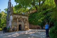 金塔da Regaleira在辛特拉 免版税库存照片
