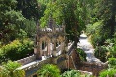 金塔Regaleira,辛特拉,葡萄牙 库存图片