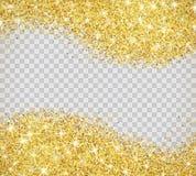 金子与闪闪发光的闪烁纹理 图库摄影
