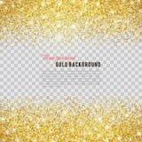 金子与闪闪发光的闪烁纹理 免版税库存照片