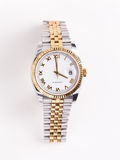 金子供以人员不锈钢手表 免版税库存图片