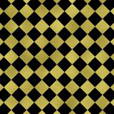 金子几何在黑背景,金子方形的纹理 闪烁方形的样式 闪烁几何墙纸 库存照片