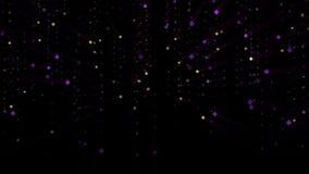 金子和紫色微粒下跌 影视素材
