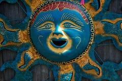 金子和蓝色太阳 库存照片
