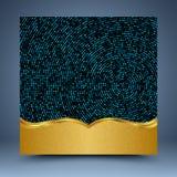 金子和蓝色抽象背景 库存照片