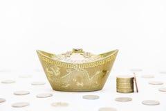 金子和金钱 库存图片