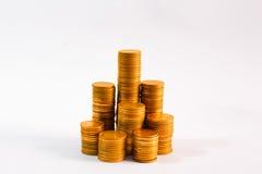 金子和金钱 免版税图库摄影