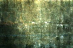 金子和绿色墙壁纹理 免版税库存照片