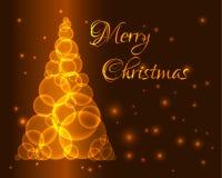 金子圣诞树 免版税库存图片