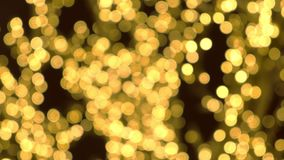 金子圣诞灯迷离背景 股票视频