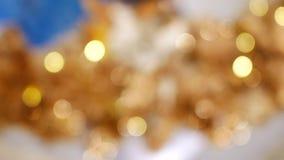 金子圣诞节背景,新年快乐背景 股票视频