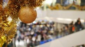 金子圣诞节背景,新年快乐背景 股票录像