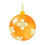 金子圣诞节装饰球 向量例证