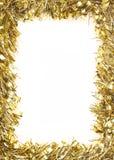 金子圣诞节闪亮金属片诗歌选 免版税库存照片